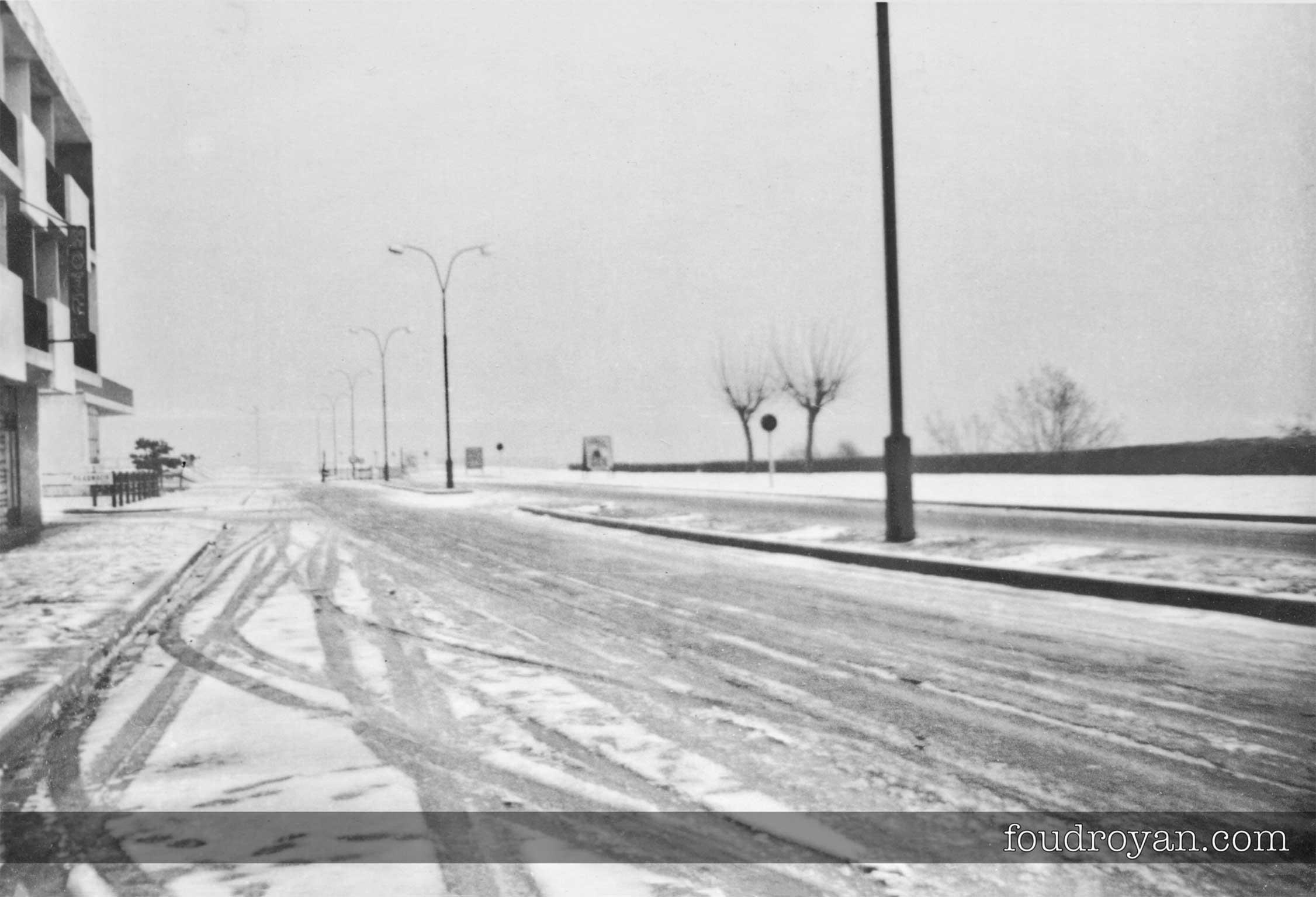 La façade de Foncillon sous la neige de février 1963