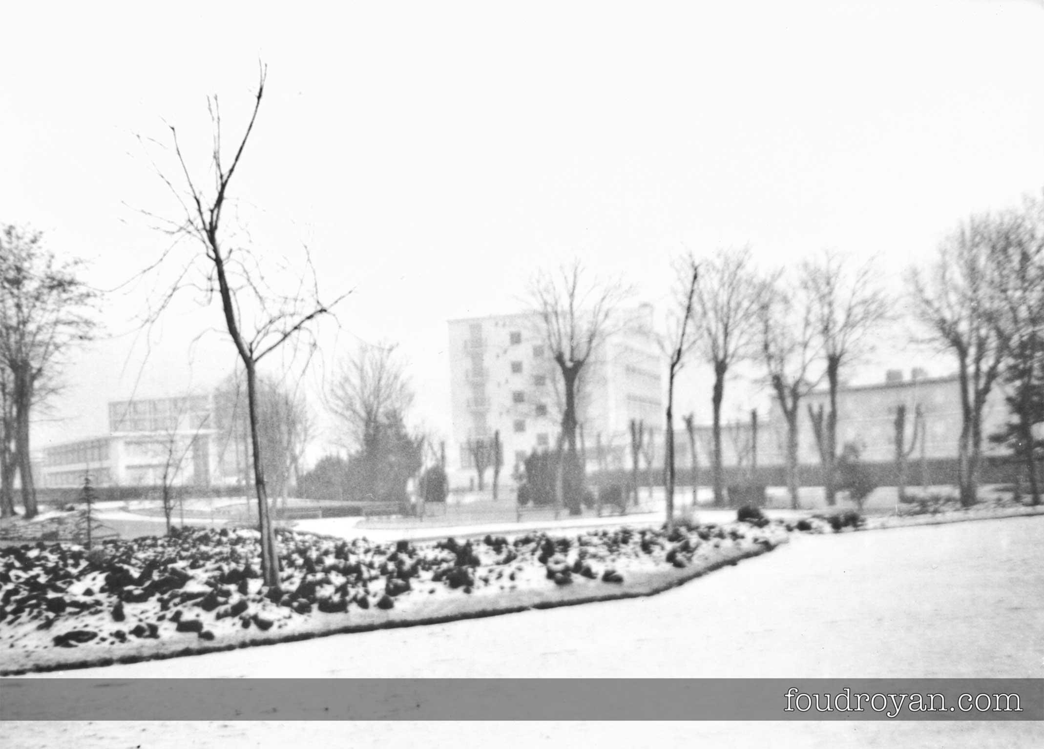 Neige sur Royan pendant l'hiver 1962-1963