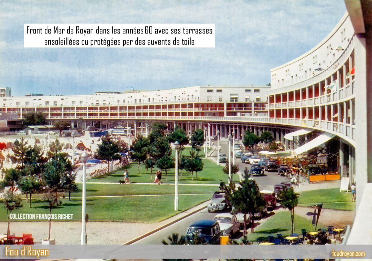 Le Front de mer et le Portique  de Royan dans les années 60 (autre vue)