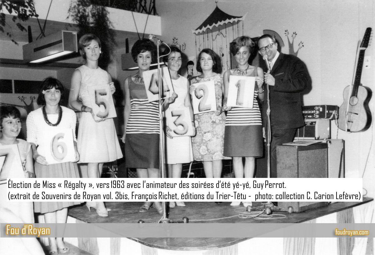 Élection de Miss «Régalty», vers 1963